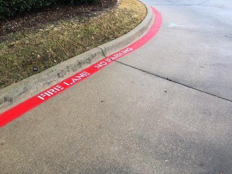 Fire Lane Striping Fort Worth Texas